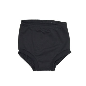 FRENCH TERRY HIGH WAISTED SHORTIES - BLACK