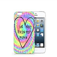 Ur Not Even Pop Punk Iphone 6 case, Iphone 6 Case Plastic Hard White Cover Skin Case (4.7'' Screen)-Quindyshop