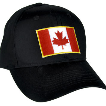 Canadian Flag Maple Leaf Hat Baseball Cap Alternative Clothing