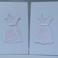Wedding Favor Bags with  Roses Paper Dress - Candy Buffet Bags - Treat Bags - Bridal Shower Favor Bags-Bridesmaid favor gift bag – Set of 12