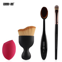 MAANGE New Style Foundation Brush Kit 4 pcs Makeup Brushes Cosmetic Cream Powder Blush Makeup Brush Set
