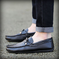 Mens Casual Slip-on Loafer Dress Shoes