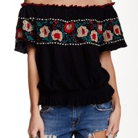 Sienna Embroidered Off-The-Shoulder Top