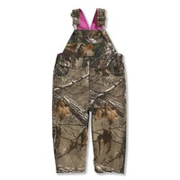 Infant and Toddler Washed Camo Canvas Bib Overall