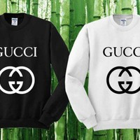 Gucci Sweater Black and White Sweatshirt Crewneck Men or Women Unisex Size I
