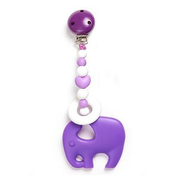 Clippable Elephant Teething Toy