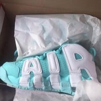 Nike Air More Uptempo Fashion Casual Running Sports Shoes Green/White F