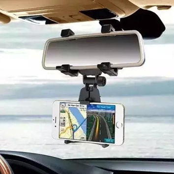 Universal Car Rearview Mirror Mount holder Stand Cradle
