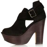 STUNNER Hi Buckle Wedges - New In This Week  - New In