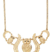 ModCloth Owls Hoot Has Your Heart? Necklace