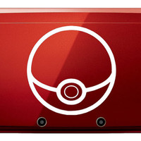 Pokeball 3DS Vinyl Decal