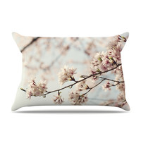 """Catherine McDonald """"Japanese Cherry Blossom"""" Pillow Case - Outlet Item"""