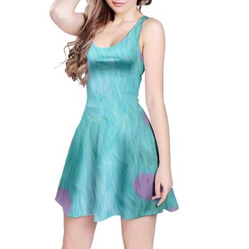 Sulley Monsters Inc Inspired Sleeveless Dress