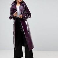 ASOS Oversized Trench in Vinyl at asos.com