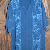 Tommy Bahama Mens Hawaiian Shirt Size XL 100% Silk