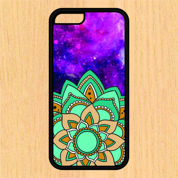 Aqua Mandala in Space PC SEC1 Print Design Art iPhone 4 / 4s / 5 / 5s / 5c /6 / 6s /6+ Apple Samsung Galaxy S3 / S4 / S5 / S6
