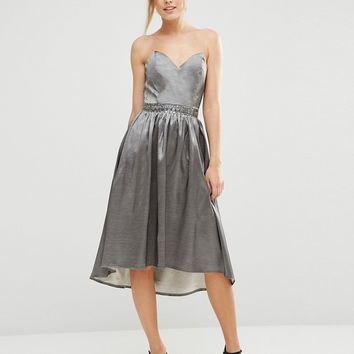 Little Mistress Bandeau Dress With Sweetheart Neck at asos.com