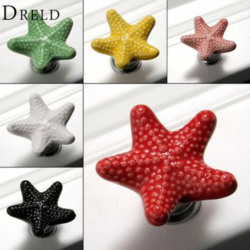 Furniture Handles Starfish Cabinet Knobs And Handles Ceramic Doo