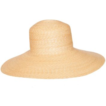 Natural Wide Brim Top Hat