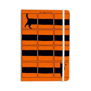 "Tobe Fonseca ""The Long Cat is Long"" Orange Black Everything Notebook"