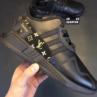 Supreme  LV Adidas EQT  Fashion casual shoes