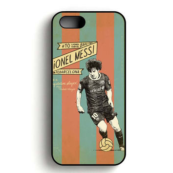 Barcelona Lionel Messi iPhone 5, iPhone 5s and iPhone 5S Gold case