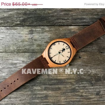 SALE Wooden Watch. Mens Wood Watch. Personalized Watch. Real Wood Watch. Wood Watch. Kavemen. Boston Watch.