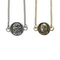 Star Wars R2-D2 C-3PO Necklace Set