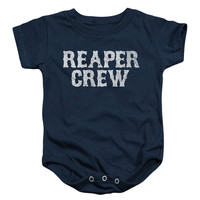 Sons Of Anarchy Boys' Reaper Crew Bodysuit Blue Rockabilia