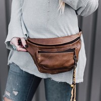 Leather Fanny Pack Carryall