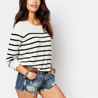 Only | Only Stripe Knit Sweater at ASOS