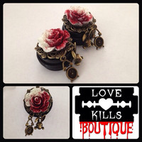 PICK SIZE Plug Size Painting the roses red Custom Plugs