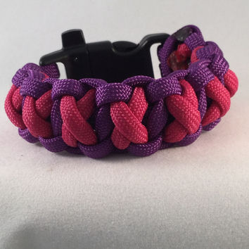 Hugs & Kisses - XOXO Paracord Bracelet with Emergency Whistle