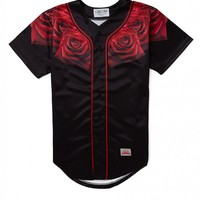 SikSilk Red Rose Baseball Jersey - T-Shirts & Vests - Clothing | Shop for Men's clothing | The Idle Man