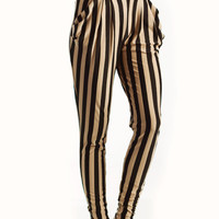 striped-harem-pants BLACKTAUPE - GoJane.com