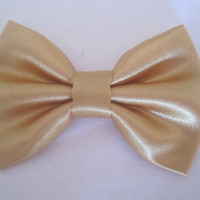 Gold Sateen bow tie, Men's gold bow tie, Boy's gold satin bow tie, Extra snap bow tie. Gold wedding bow tie, Gold bow tie for formal wear