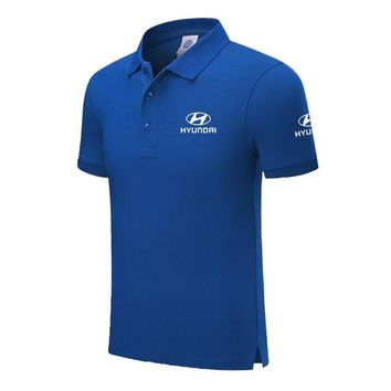 Design Brand Hyundai Logo Custom Men and women Polo Shirts Plus Size Polo Shirt Men Clothing