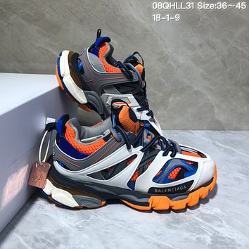 KUYOU Balenciaga Sneaker Tess.s.Gomma 3.0 Running Shoes White Orange Blue