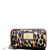 Michael Kors Cheetah Large Multifunction Phone Case Clutch
