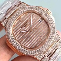 cc spbest Patek P FULL ROSE DIAMOND 324SC Movement