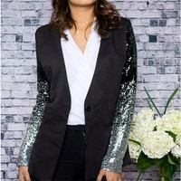 Not Your Baby Gradient Sequined Jacket