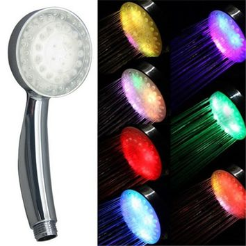 Multicolor fast flashing handheld shower head without package
