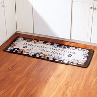 Dog Lover  Rug Floor Runner Paw Prints Pet Kitchen Utility Room Home Decor