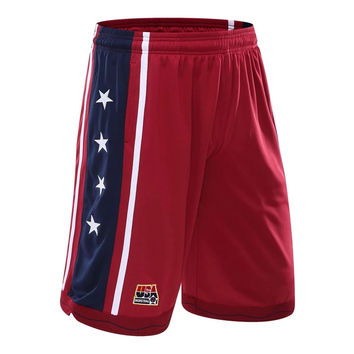 2016 New USA Basketball Shorts Men Running Shorts Summer Beach Sport Shorts For Men 3 Color Plus Size shorts