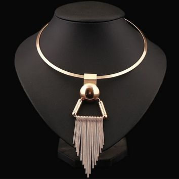 Collar Alloy Tassel Fashion New Necklace Decorations for Women African Beads Jewelry