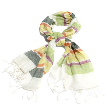 Striped Linen Scarf