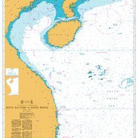 British Admiralty Nautical Chart 3488: Song Sai Gon to Hong Kong