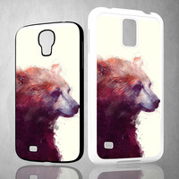 Bear  Calmv V0174 Samsung Galaxy S3 S4 S5 (Mini), Note 2 3 4, HTC One S X M7 M8  Cases