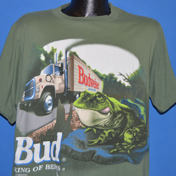 90s Budweiser Frogs Bud King of Beers t-shirt Large