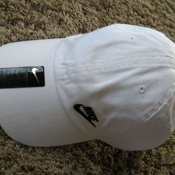 67c1c24a601 NEW NIKE Women s Heritage White Dri-Fit Cap Hat adjustable